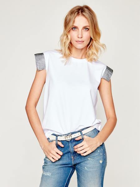 T-shirt Silvian Heach w stylu casual z krótkim rękawem