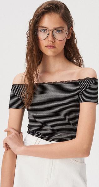 T-shirt Sinsay z krótkim rękawem w stylu casual