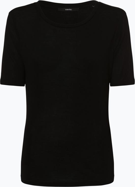 Czarny t-shirt someday. z krÓtkim rękawem z okrągłym dekoltem w stylu casual Odzież Damskie Topy i koszulki damskie AC HUQQAC-5 80% ZNIŻKI