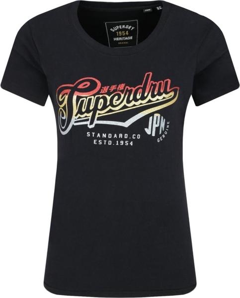 T shirt Superdry z długim rękawem z okrągłym dekoltem Odzież