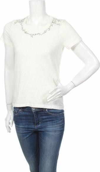 T-shirt Sweewe w stylu casual z okrągłym dekoltem