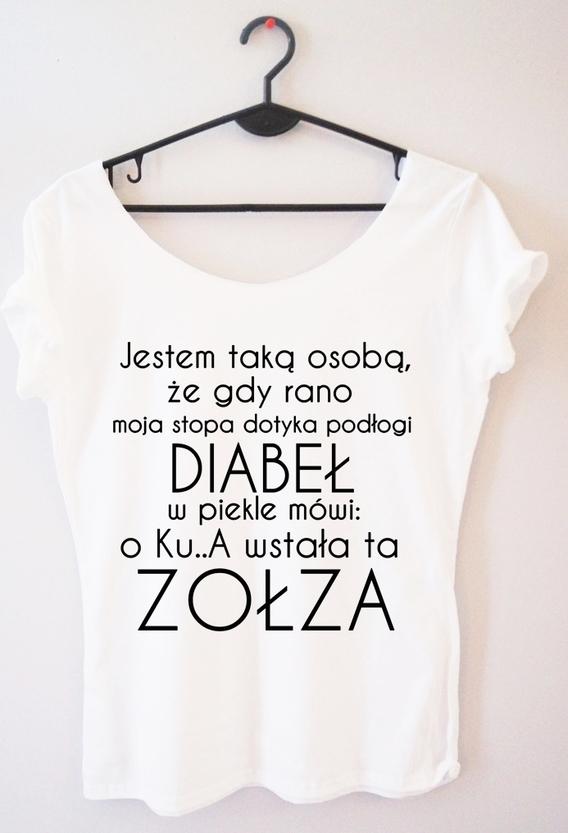 T-shirt Time For Fashion z bawełny z okrągłym dekoltem w młodzieżowym stylu