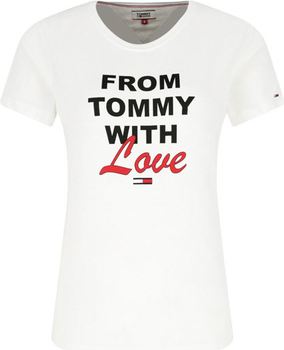 nowy T-shirt Tommy Jeans z krÓtkim rękawem w młodzieżowym stylu Odzież Damskie Topy i koszulki damskie EF PQSDEF-8