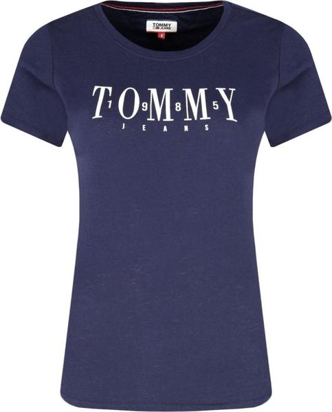 oferta Niebieski t-shirt Tommy Jeans Odzież Damskie Topy i koszulki damskie PO CEQNPO-9