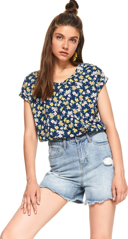 T-shirt Top Secret z okrągłym dekoltem Odzież Damskie Topy i koszulki damskie PU YNUHPU-9 30% OBNIŻONE