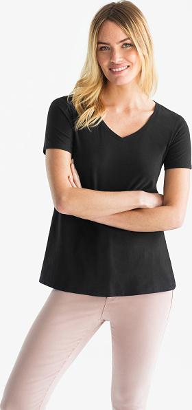 T-shirt YESSICA z bawełny z krótkim rękawem