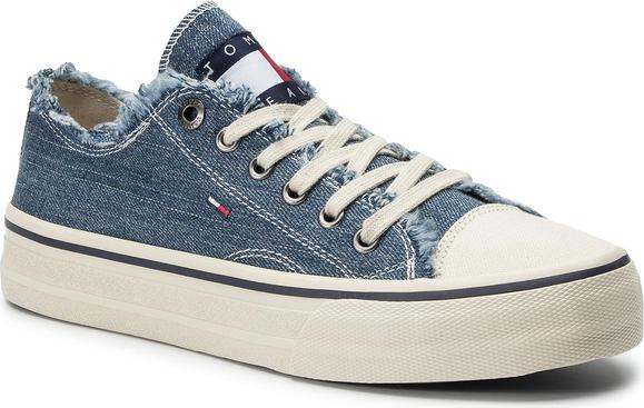 Tenisówki TOMMY JEANS - Lowcut Tommy Jeans Sneaker EM0EM00298 Denim 404