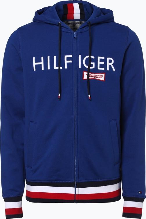 92246d4d4df70 Tommy hilfiger - męska bluza rozpinana, niebieski