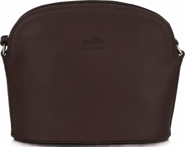 3b4e73844e98c Torebki skórzane listonoszki firmy genuine leather czekoladowe