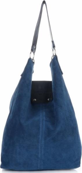 Torebki skórzane typu shopperbag firmy vittoria gotti jeansowe
