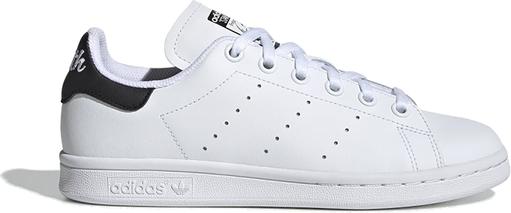 Trampki Adidas z płaską podeszwą ze skóry sznurowane