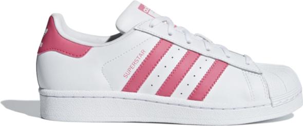 Trampki Adidas ze skóry sznurowane superstar