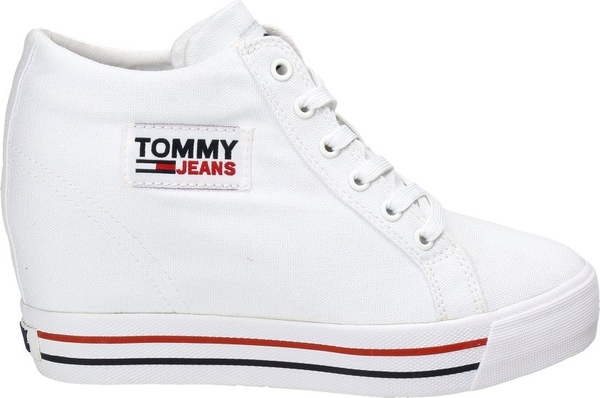 Trampki Tommy Jeans z płaską podeszwą