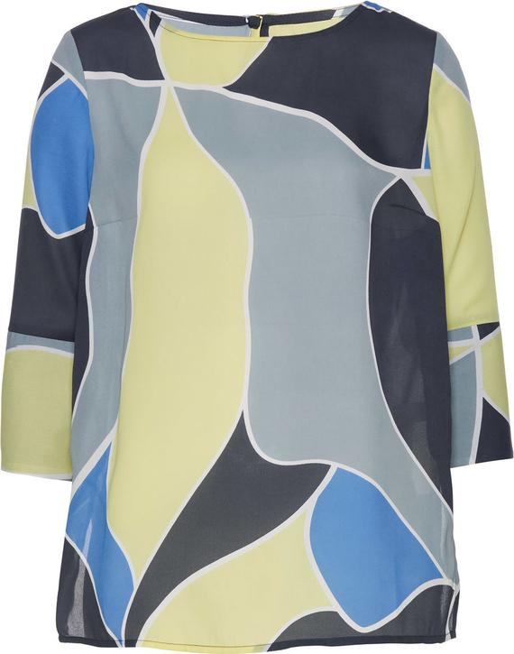 Tunika bonprix bpc selection w stylu casual z długim rękawem z okrągłym dekoltem