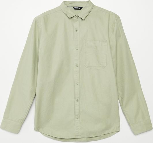 Turkusowa koszula Cropp z długim rękawem