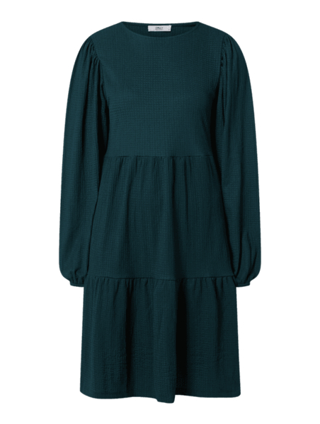 Turkusowa sukienka Only mini z długim rękawem