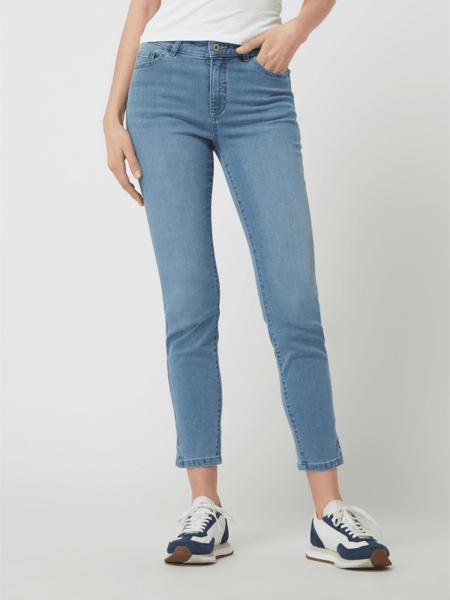 Turkusowe jeansy Christian Berg Women w street stylu z bawełny