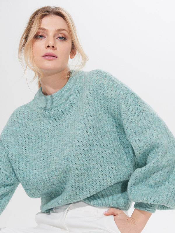 Turkusowy sweter Mohito