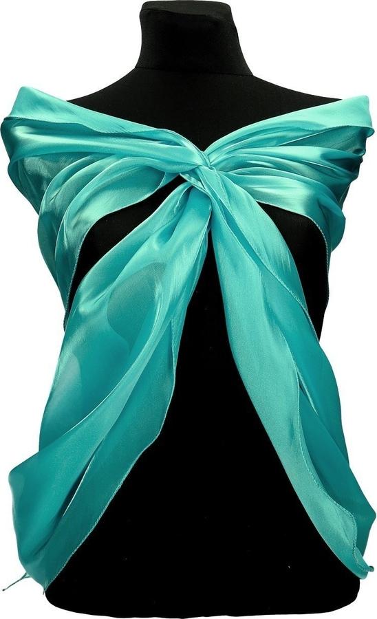 Turkusowy szalik Fokus w stylu casual
