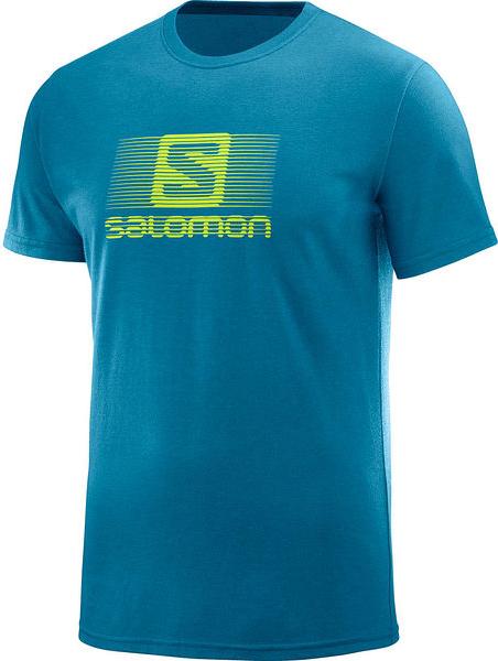 Turkusowy t-shirt Salomon