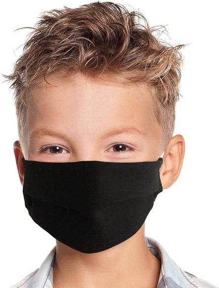 UlubionaMaseczka.pl Dziecięca maseczka ochronna wielorazowa z kieszonką na filtr bawełna czarna