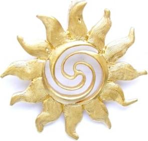 Venus Galeria Wisiorek srebrny - Złote słoneczko