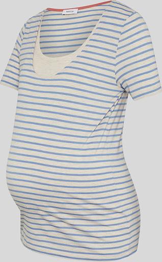 YESSICA C&A T-shirt do karmienia-w paski, Beżowy, Rozmiar: XS