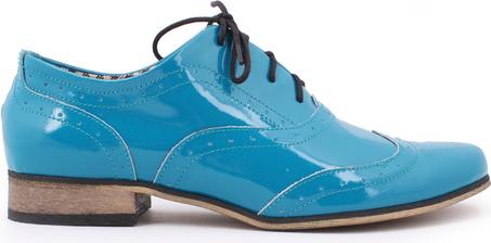 Zapato jazzówki - skóra naturalna - model 246 - kolor turkusowy