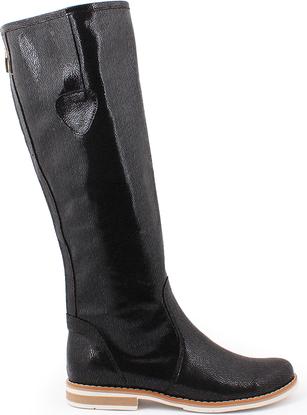 Zapato kozaki - skóra naturalna - model 127 - kolor czarny łapki