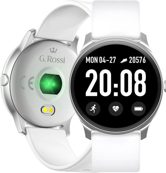 Zegarek GINO ROSSI SMARTWATCH SW010 biały - srebrny