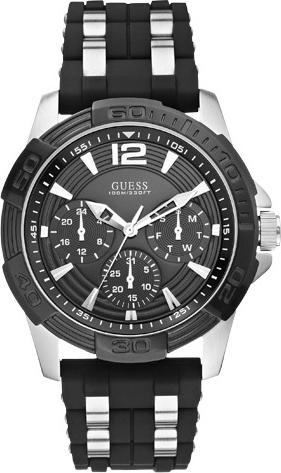 Zegarek GUESS - Oasis W0366G1 BLACK/SILVER TONE