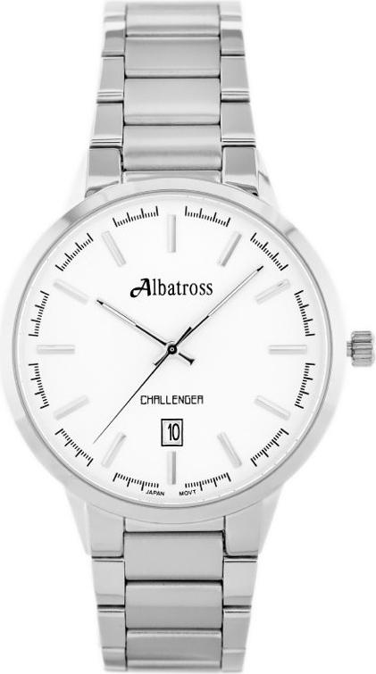 ZEGAREK MĘSKI ALBATROSS Challenger ABDC06 (za059a) silver - Srebrny