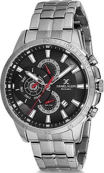 Zegarek męski Daniel Klein 12126 - srebrny czt