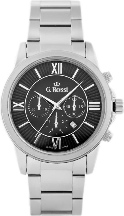 ZEGAREK MĘSKI GINO ROSSI - 6846B (zg200c) + BOX - Srebrny