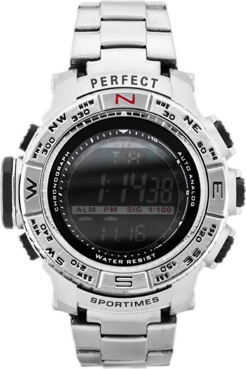 ZEGAREK MĘSKI PERFECT - A8006 (zp263a) - silver - Srebrny