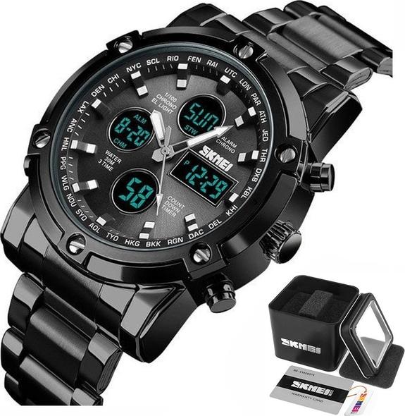 Zegarek męski SKMEI 1389 bransoleta LED czarny