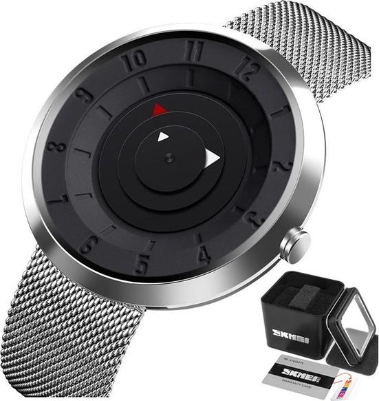Zegarek męski SKMEI 9174 biznesowy SREBRNY