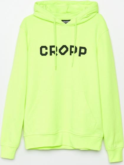 Zielona bluza Cropp w młodzieżowym stylu