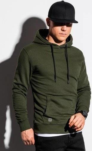 Zielona bluza Ombre w młodzieżowym stylu z bawełny