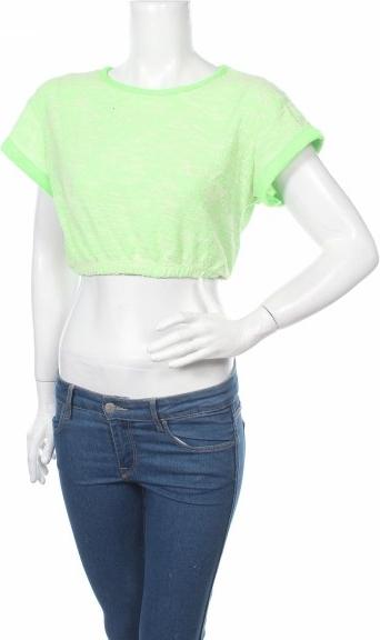 Zielona bluzka Dgny z krótkim rękawem