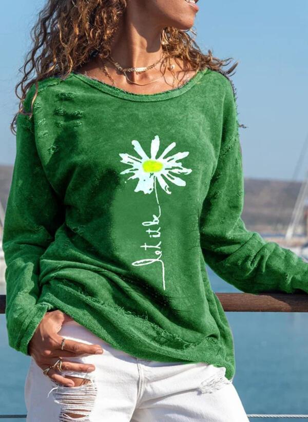 Zielona bluzka Sandbella z okrągłym dekoltem