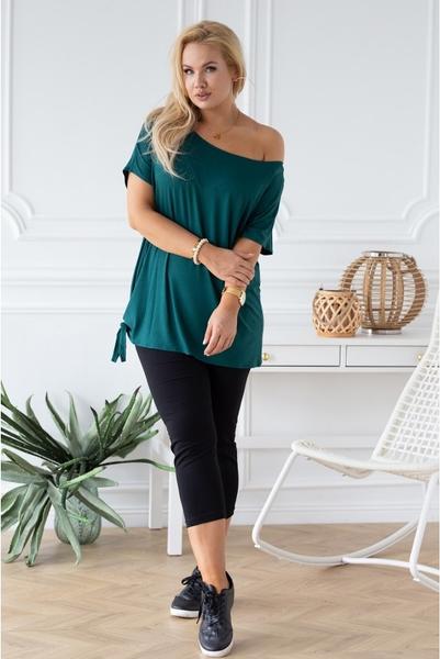 Zielona bluzka Sklep XL-ka z okrągłym dekoltem