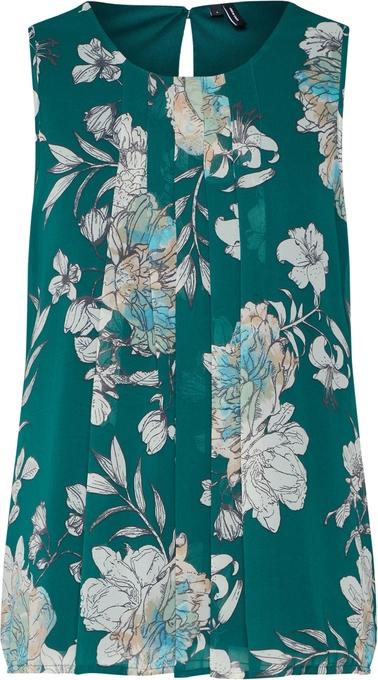 Zielona bluzka Vero Moda z okrągłym dekoltem