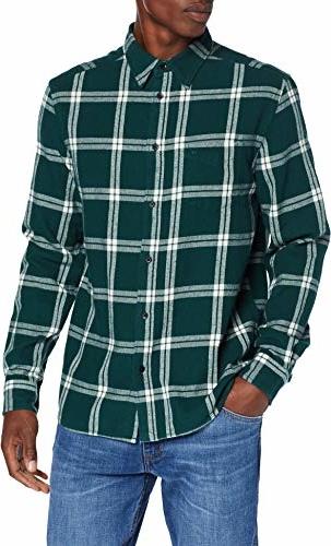 Zielona koszula amazon.de z długim rękawem