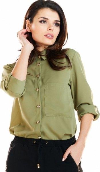 Zielona koszula Awama z tkaniny