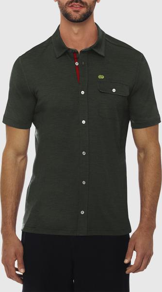 Zielona koszula Reda Rewoolution w stylu casual z klasycznym kołnierzykiem z dżerseju