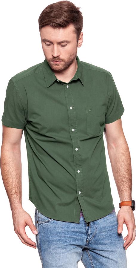 Zielona koszula Wrangler z długim rękawem