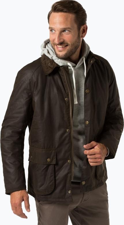 Zielona kurtka Barbour w stylu casual z bawełny