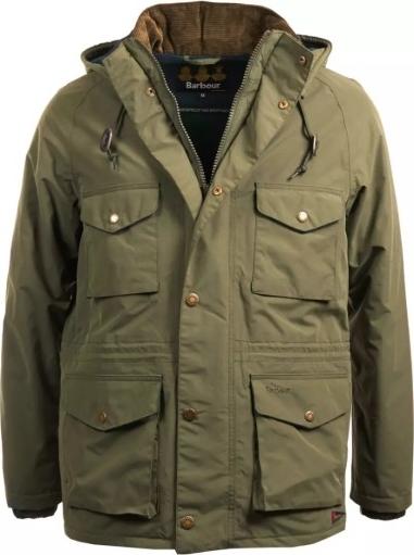 Zielona kurtka Barbour w stylu casual z tkaniny