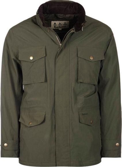 Zielona kurtka Barbour z dżerseju